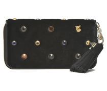 Portefeuille velours strass Portemonnaies & Clutches für Taschen in schwarz