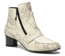 Marble Leather Zan Loafer Bootie Stiefeletten & Boots in weiß
