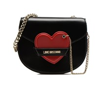 Bicolor Heart Crossbody S Handtaschen für Taschen in schwarz