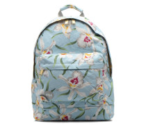 Gold orchid Backpack Rucksack in blau