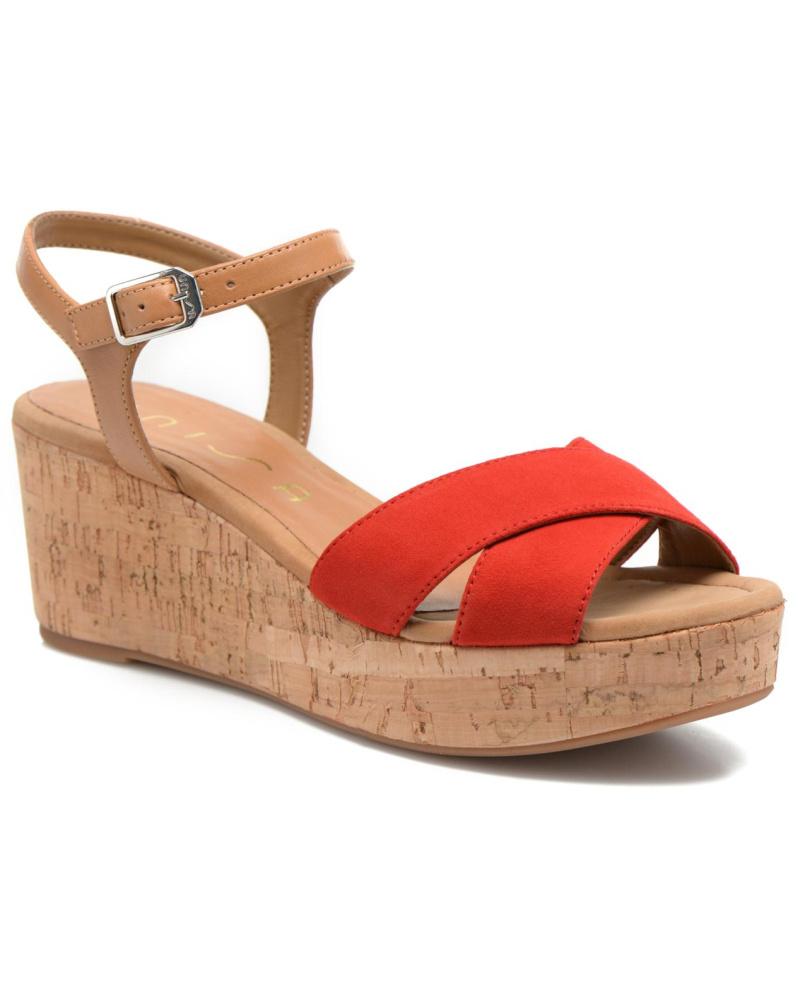 unisa damen unisa kiber sandalen f r damen rot reduziert. Black Bedroom Furniture Sets. Home Design Ideas
