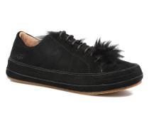 Blake Fur Sneaker in schwarz
