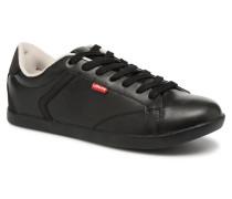 Loch Derby Sneaker in schwarz