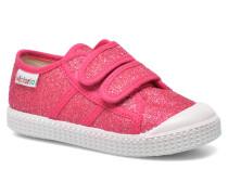 Basket Glitter Velcros Sneaker in rosa
