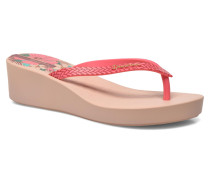 Art Deco Zehensandalen in rosa