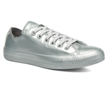Ctas Metallic Rubber Ox Pure Silver Sneaker in silber