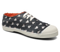 Tennis Glitter Love E Sneaker in schwarz