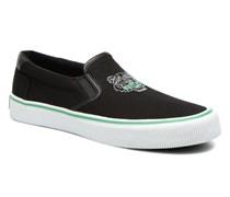 Velvet Sneaker in schwarz