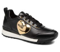 Gold Heart Sneaker in schwarz