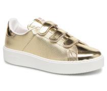 Deportivo Metalico Velcros Sneaker in goldinbronze