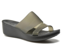 ColorBlock Wedge W Clogs & Pantoletten in schwarz