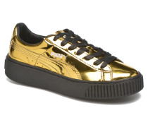 Wns Basket Platform Sneaker in goldinbronze
