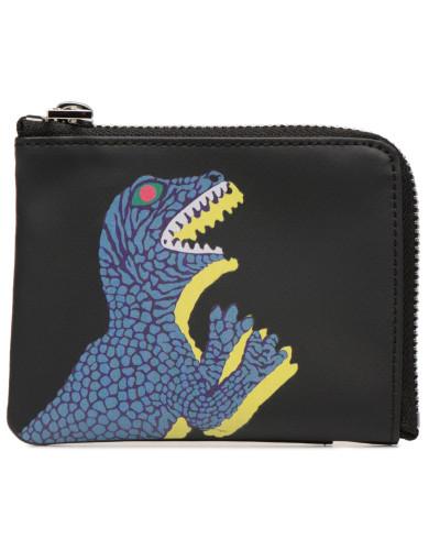 Men Wallet CRN Zip Dino in schwarz