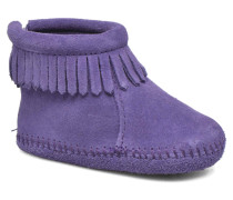 Back Strap Bootie Stiefeletten & Boots in lila