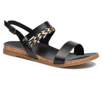 K Jayna Metallic Sandalen in schwarz