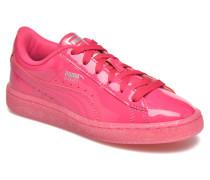 Basket Patent Iced Glitter Jr Sneaker in rosa