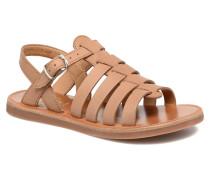 Plagette Strap Sandalen in braun