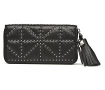 Portefeuille nylon clouté Portemonnaies & Clutches für Taschen in schwarz
