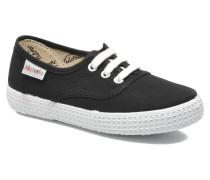 Inglesa Lona Sneaker in schwarz