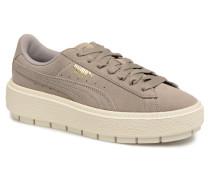 Suede Platform Trace Wn's Sneaker in grau