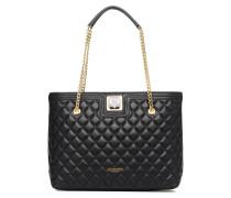 Super quilted Cabas Handtaschen für Taschen in schwarz