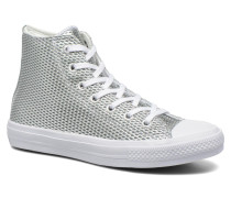 Chuck Taylor All Star II Hi Perf Metallic Leather Sneaker in silber