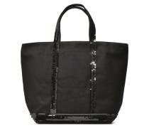 Cabas paillettes toile Porté main M Handtaschen für Taschen in schwarz