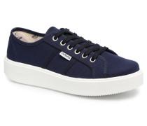 Basket Lona Sneaker in blau