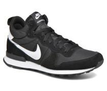 Internationalist Mid Sneaker in schwarz