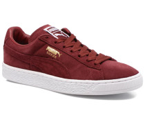 Suede Classic+ Sneaker in weinrot