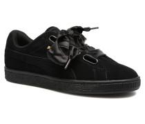 Wns Suede Heart Satin II Sneaker in schwarz