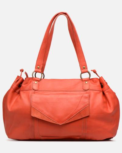 BETH LEATHER BAG Handtasche in rosa