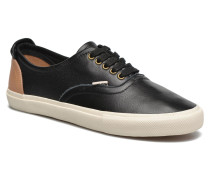 White Tab Sneaker Low in schwarz