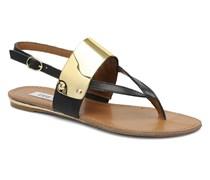 Cuff Sandalen in schwarz