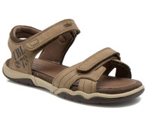 Oak Bluffs Leather 2Strap Sandalen in braun