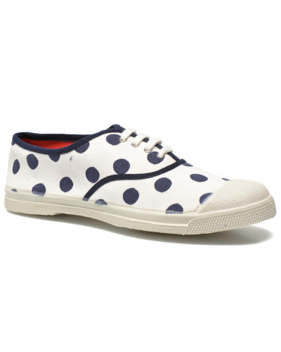 Tennis Lacets Pois Sneaker in weiß