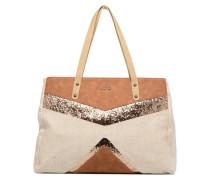 Sac mix matière Handtaschen für Taschen in beige