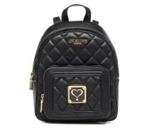 Super quilted Backpack Rucksäcke für Taschen in schwarz