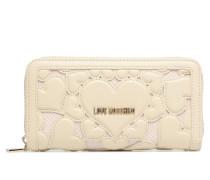 Portefeuille Love Intarsia Portemonnaies & Clutches für Taschen in weiß