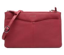 Pochette double zippée Valentine Handtaschen für Taschen in weinrot