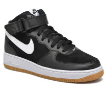 Air Force 1 Mid Sneaker in schwarz