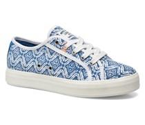 Hannah Print Sneaker in blau