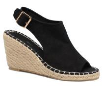 Lina Wedge Sandal Espadrilles in schwarz