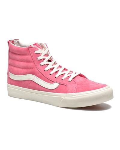 vans damen sale 30 vans sk8 hi slim zip sneaker f r damen rosa 30 reduziert. Black Bedroom Furniture Sets. Home Design Ideas