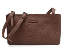Besace Double Handtasche in braun