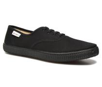Inglesa Lona Piso Negro Sneaker in schwarz