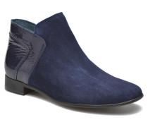 JOTINI #Multi Ch Vel OCEAN ~Doubl & 1ere CUIR Stiefeletten Boots in blau