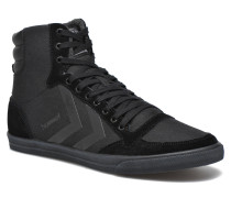 Ten Star Smooth Canvas High Sneaker in schwarz