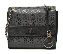Janette verni Crossbody flap Handtaschen für Taschen in schwarz
