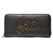 Love zip around Portemonnaies & Clutches für Taschen in schwarz